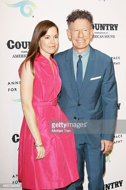 Lyle Lovett and April Kimble at the exhibit opening of Country Portraits Of An American Sound held at Annenberg Space For Photography on May 22 2014...