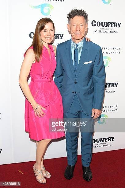 Lyle Lovett and April Kimble attend the Annenberg Space for Photography Opening Celebration for 'Country Portraits of an American Sound' at the...