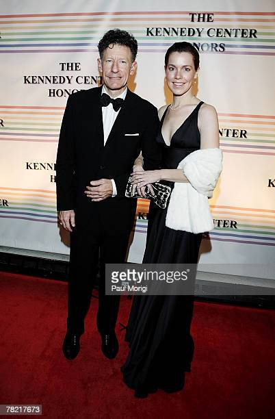Lyle Lovett and April Kimble pose for the cameras at the 30th annual Kennedy Center Honors on December 2 2007 at the John F Kennedy Center for the...