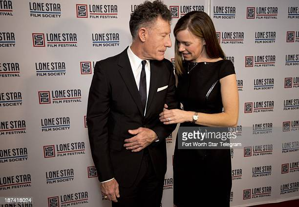 Lyle Lovett and April Kimble walk the red carpet before he was honored with the Stephen Bruton Award at the 2013 Lone Star Film Festival Ballin Fort...