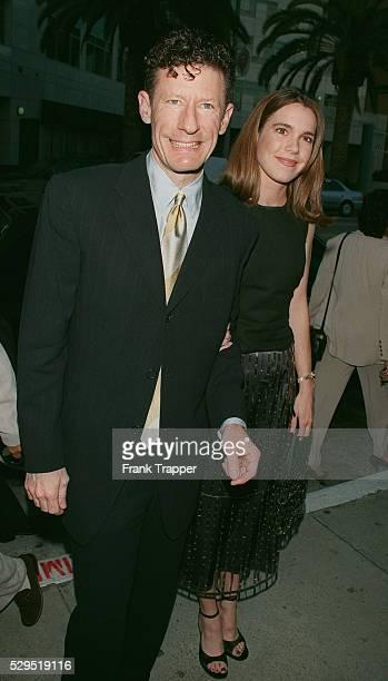 Lyle Lovett and girlfriend April Kimble arrive