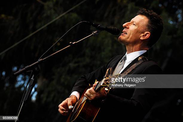 Lyle Lovett and his Large Band perform on stage at the Hardly Strictly Bluegrass festival in Golden Gate Park San Francisco California USA on October...