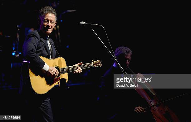 Lyle Lovett and His Large Band performs at Sandler Center For The Performing Arts on August 16 2015 in Virginia Beach Virginia