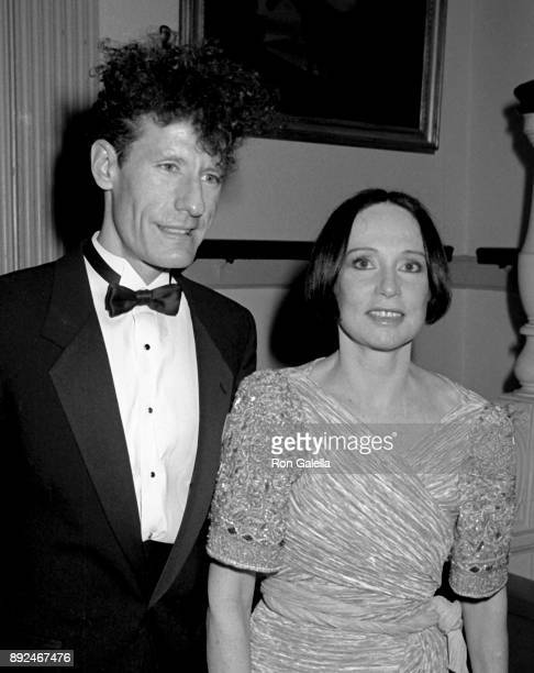 Lyle Lovett and Mary McFadden attend Esquire Magazine Gala on November 13 1989 at 21 Club in New York City