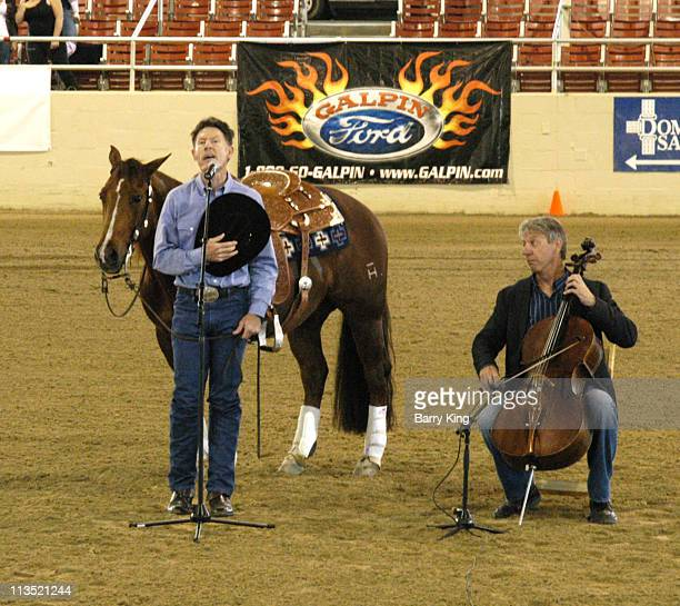 Lyle Lovett during William Shatner Wells Fargo Hollywood Charity Horse Show April 29 2006 at Los Angeles Equestrian Center in Burbank CA United States