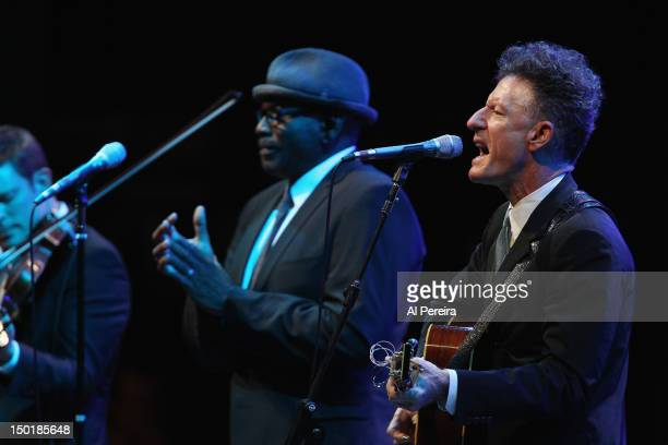Lyle Lovett performs as part of Celebrate Brooklyn at the Prospect Park Bandshell on August 11 2012 in the Brooklyn borough of New York City