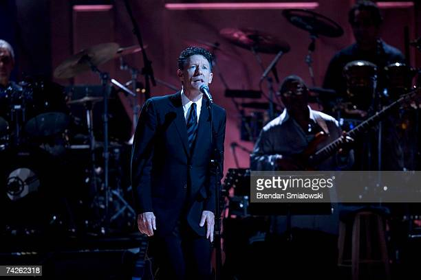 Lyle Lovett performs during the Library Of Congress Gershwin Prize For Popular Song Gala at the Warner Theater May 23 2007 in Washington DC Paul...