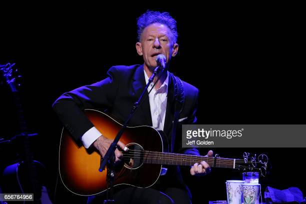 Lyle Lovett performs in support of the Songs and Stories Tour at Fred Kavli Theatre on March 22 2017 in Thousand Oaks California
