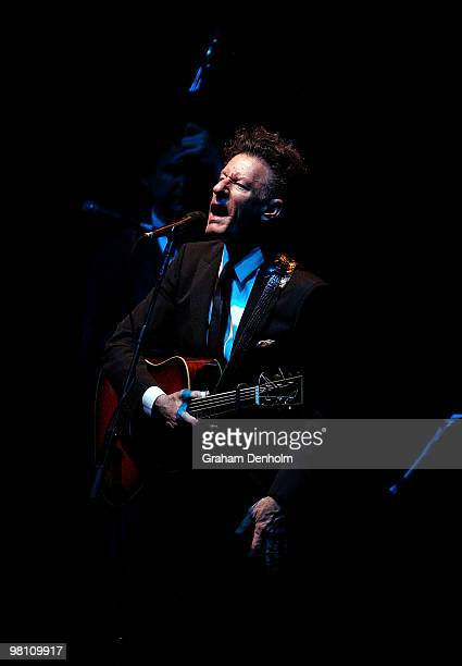Lyle Lovett performs on stage during his concert at the State Theatre on March 29 2010 in Sydney Australia