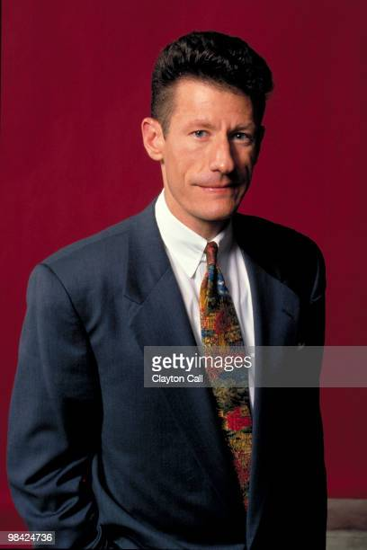 Lyle Lovett posing backstage at the Warfield Theater in San Francisco on July 29 1992