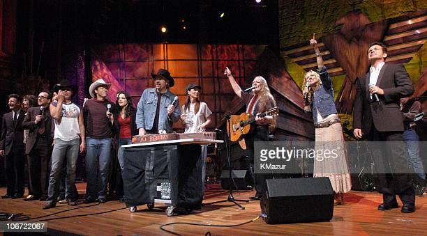 Lyle Lovett Steven Tyler Elvis Costello Kenny Chesney musician Norah Jones Toby Keith Shania Twain Willie Nelson Sheryl Crow and John Mellencamp with...