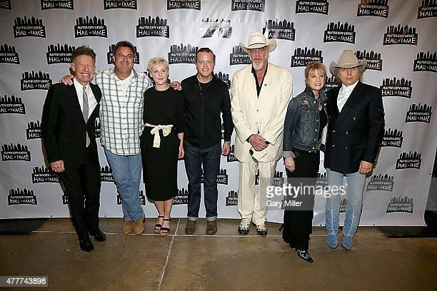 Lyle Lovett Vince Gill Laura Marling Jason Isbell Ray Benson Patty Loveless and Dwight Yoakam attend the 2015 Austin City Limits Hall of Fame...