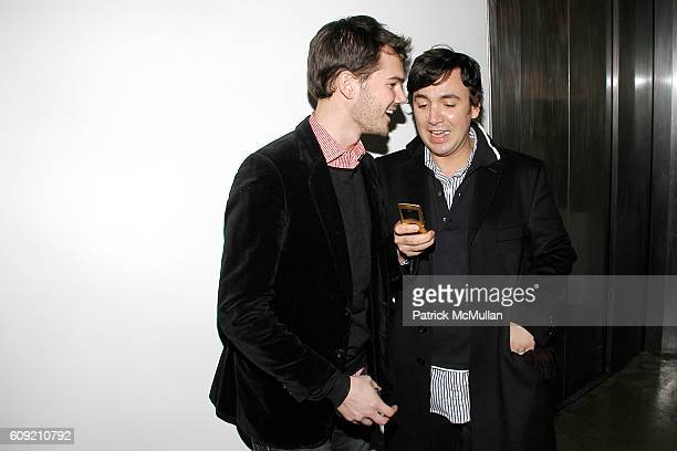 Lyle Maltz and Ashley Javier attend GLAMOUR Magazine Fashion Gives Back Party at Milk Studios Penthouse on February 1 2007 in New York City