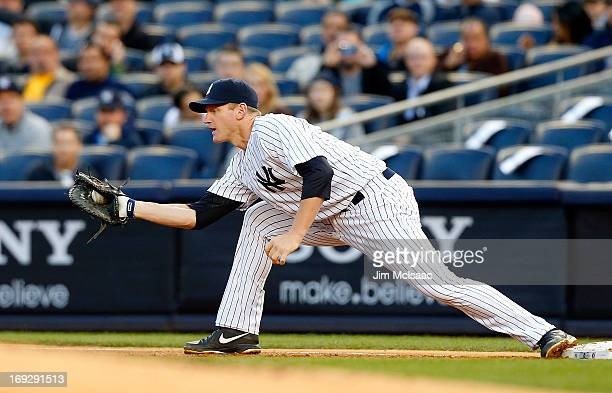Lyle Overbay of the New York Yankees in action against the Houston Astros at Yankee Stadium on April 30 2013 in the Bronx borough of New York City...