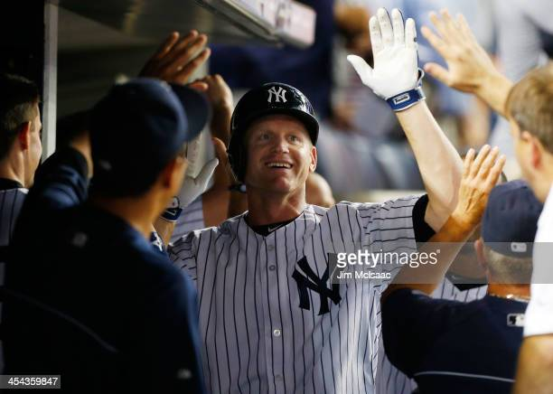 Lyle Overbay of the New York Yankees in action against the Kansas City Royals at Yankee Stadium on July 10 2013 in the Bronx borough of New York City...
