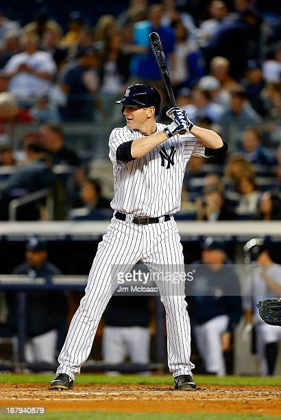 Lyle Overbay of the New York Yankees in action against the Toronto Blue Jays at Yankee Stadium on April 26 2013 in the Bronx borough of New York City...