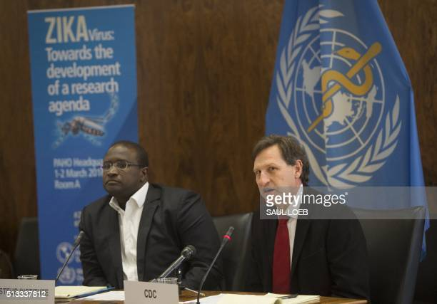Lyle Petersen Director of VectorBorne Diseases at the Centers for Disease Control and Prevention and Amadou Sall of the Pasteur Institute speak to...