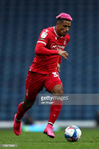 Lyle Taylor of Nottingham Forest during the Sky Bet Championship match between Blackburn Rovers and Nottingham Forest at Ewood Park on October 17,...