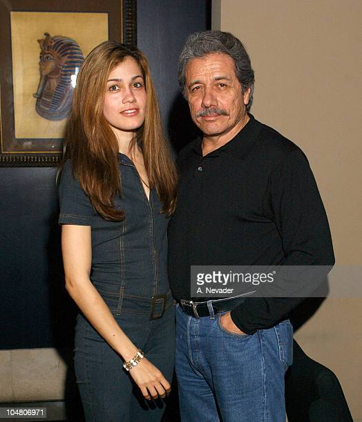 Lymari Nadal and Edward James Olmos during 25th Mill Valley Film Festival PostScreening Party at Lapis Restaurant in San Francisco California United...