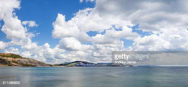 lyme regis bay - andrew dernie stock pictures, royalty-free photos & images