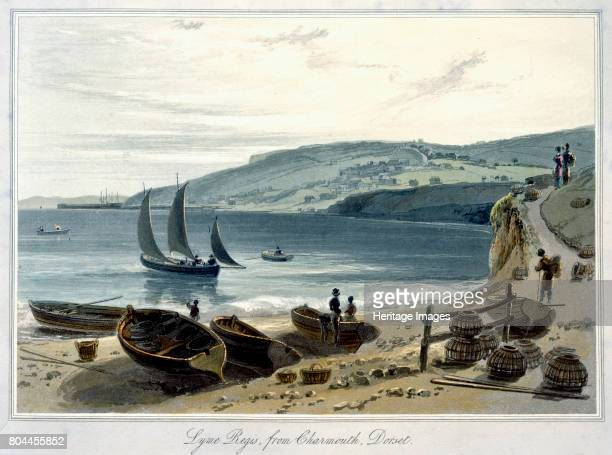 Lyme Regis from Charmouth Dorset' 18141825 From A Voyage Around Great Britain Undertaken between the Years 1814 and 1825 by William Daniell Artist...