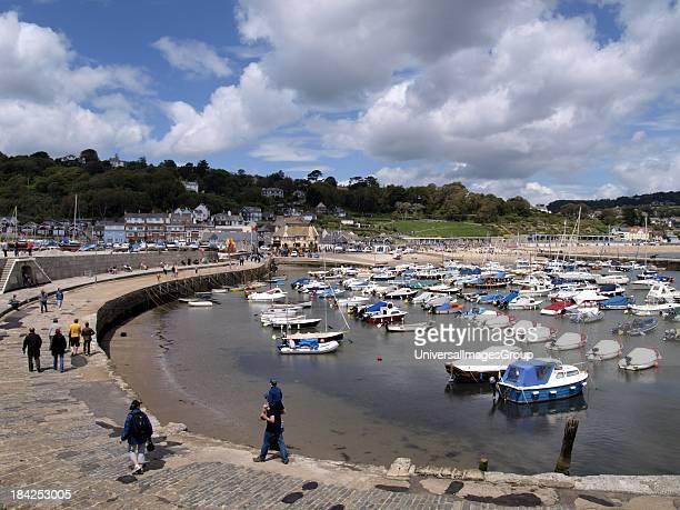 Lyme Regis Harbour Dorset UK