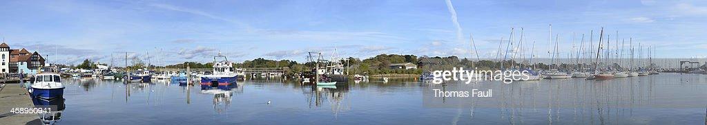 Lymington Harbour : Stock Photo
