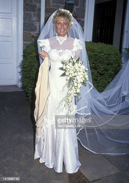 Lyn Barron leaves her suite for her wedding ceremony on May 25 1985 at the Apawamis Club in Rye New York