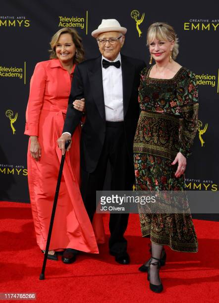 Lyn Lear Norman Lear and Maggie Lear attend the 2019 Creative Arts Emmy Awards on September 14 2019 in Los Angeles California