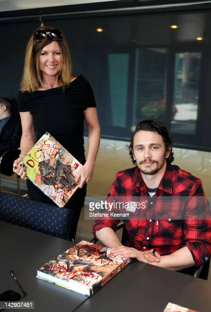 Lyn Winter and James Franco attend James Franco book signing at MOCA Grand Avenue on April 14 2012 in Los Angeles California
