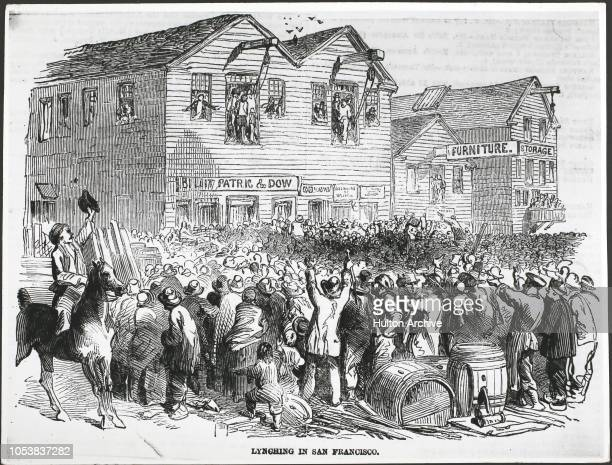 A lynching in San Francisco USA From the Illustrated London News 15th November 1861