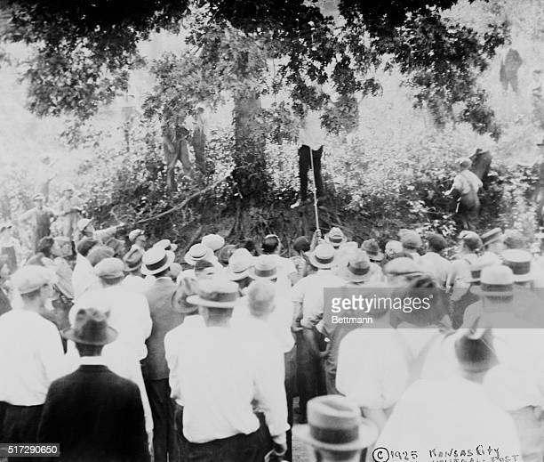 Lynching Miller Mitchell Negro lynched by mob at Excelsior Springs Missouri