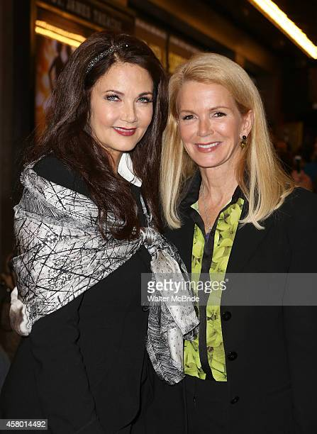 Lynda Carter and Blaine Trump attend the first Broadway preview for 'Side Show' at the St James Theatre on October 28 2014 in New York City