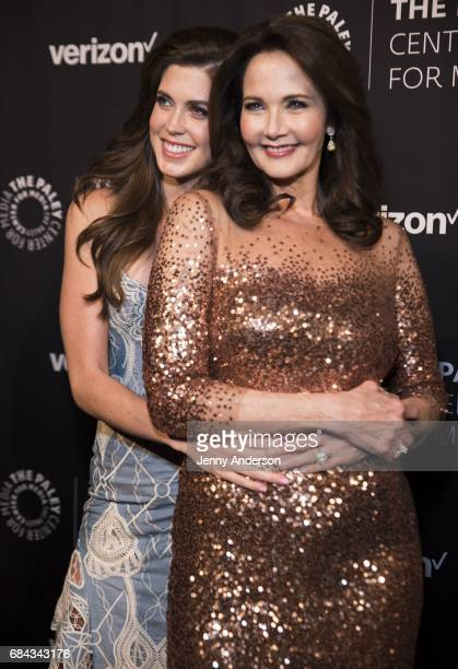 Lynda Carter and daughter Jessica Altman attend The Paley Honors Celebrating Women In Television at Cipriani Wall Street on May 17 2017 in New York...