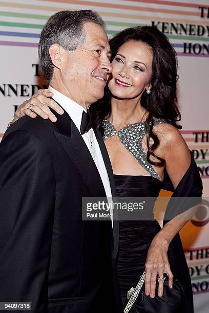 Lynda Carter and Robert Altman arrive to the 32nd Kennedy Center Honors at Kennedy Center Hall of States on December 6 2009 in Washington DC