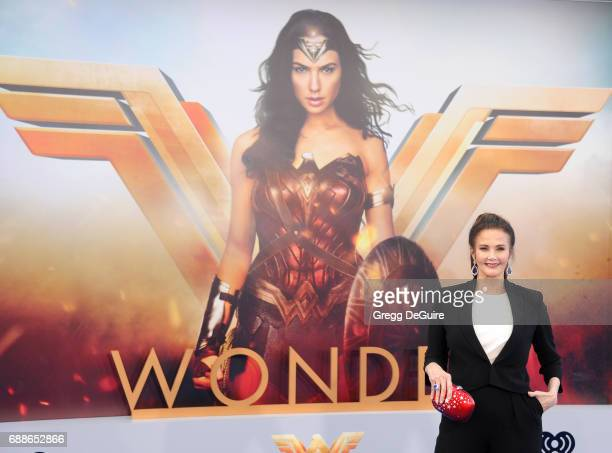 Lynda Carter arrives at the premiere of Warner Bros Pictures' Wonder Woman at the Pantages Theatre on May 25 2017 in Hollywood California