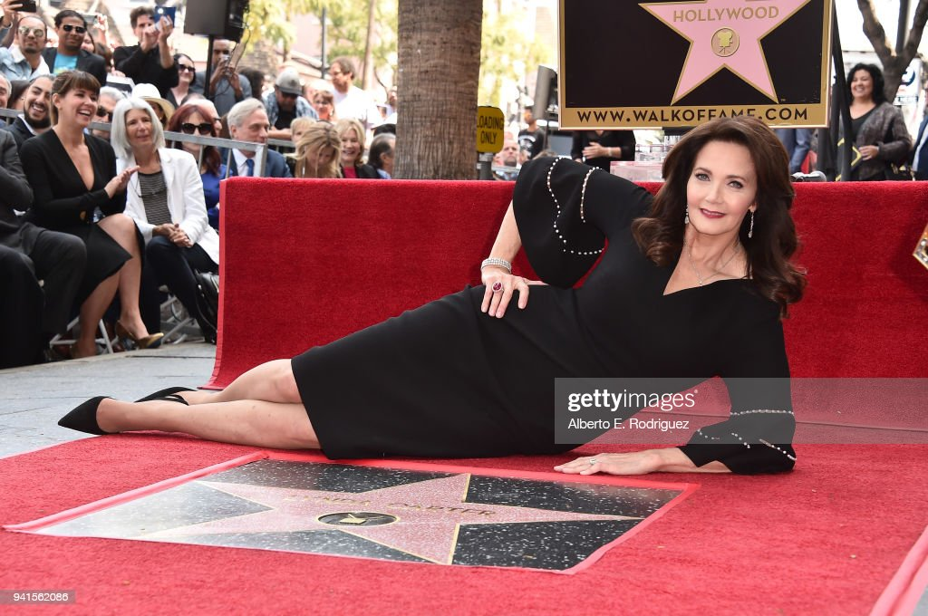 Lynda Carter Honored With Star On The Hollywood Walk Of Fame : News Photo