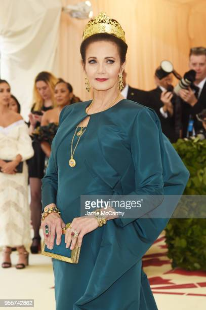 Lynda Carter attends the Heavenly Bodies Fashion The Catholic Imagination Costume Institute Gala at The Metropolitan Museum of Art on May 7 2018 in...
