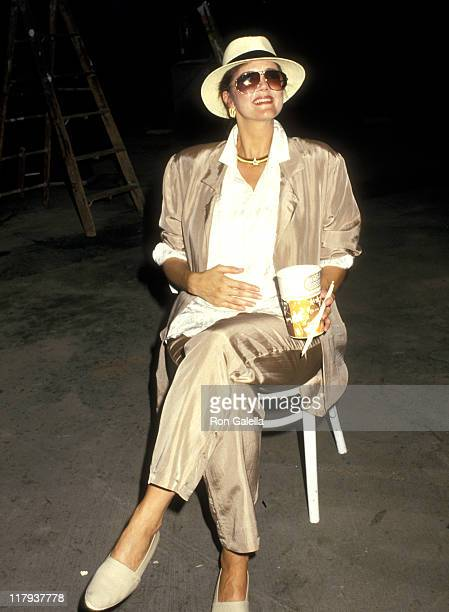 Lynda Carter during 1987 US Open Sightings at Flushing Meadows Park in Queens New York United States