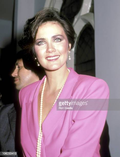 Lynda Carter during Party for Lynda Carter's Variety Show Special 'Body and Soul' March 6 1984 at Limelight Complex in New York City New York United...