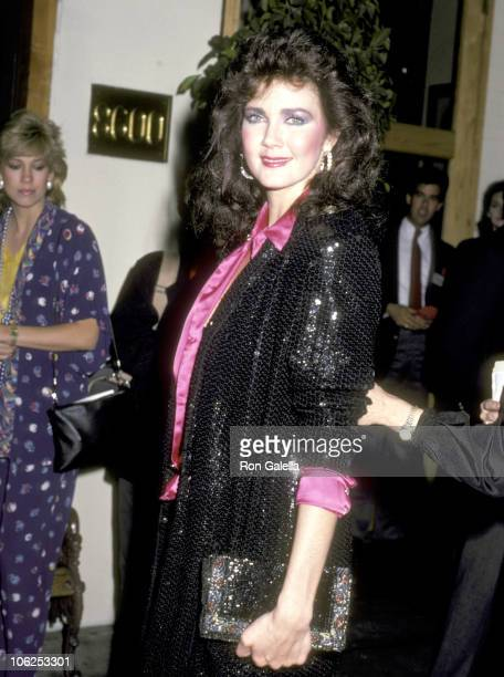 Lynda Carter during Princess Stephanie Hosts Party for Princess Grace Foundation November 1 1985 at Hard Rock Cafe in Los Angeles California United...