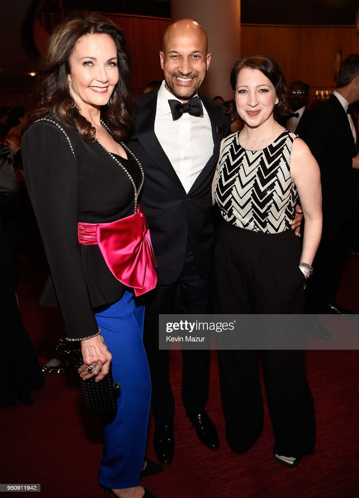 Lynda Carter, Keegan-Michael Key and Elisa Pugliese attend the 2018 Time 100 Gala at Jazz at Lincoln Center on April 24, 2018 in New York City.Ê