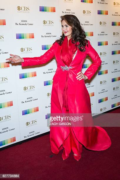 Lynda Carter poses on the red carpet before the 39th Annual Kennedy Center Honors December 4 2019 in Washington DC / AFP / ZACH GIBSON