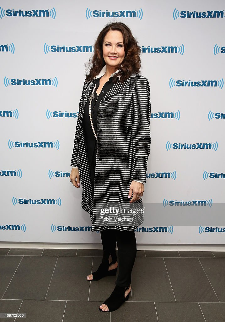 Lynda Carter visits at SiriusXM Studios on April 14, 2015 in New York City.