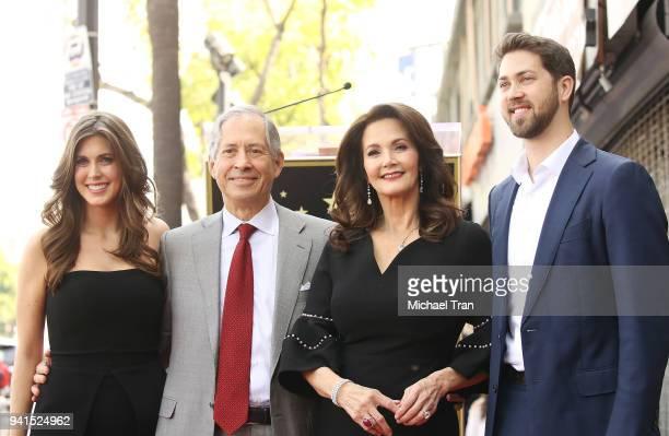 Lynda Carter with her husband Robert A Altman and their children Jessica Altman and James Altman attend the ceremony honoring Lynda Carter with a...
