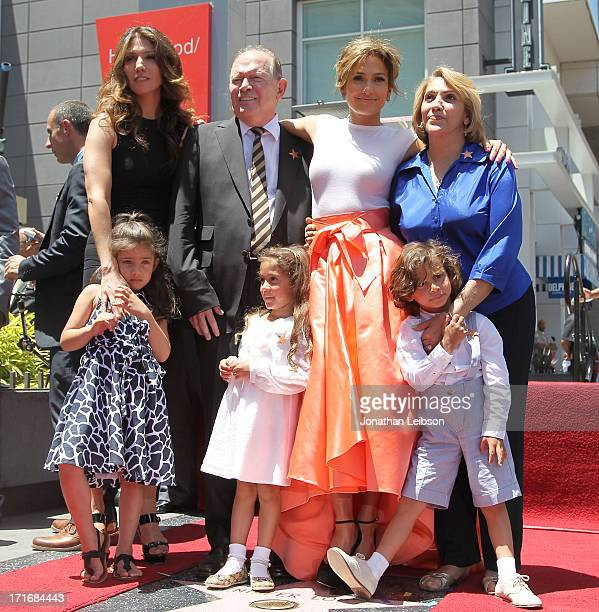 Lynda Lopez father David Lopez Jennifer Lopez mother Guadalupe Lopez daughter Emme Maribel and son Maximilian David as she is honored with a star on...