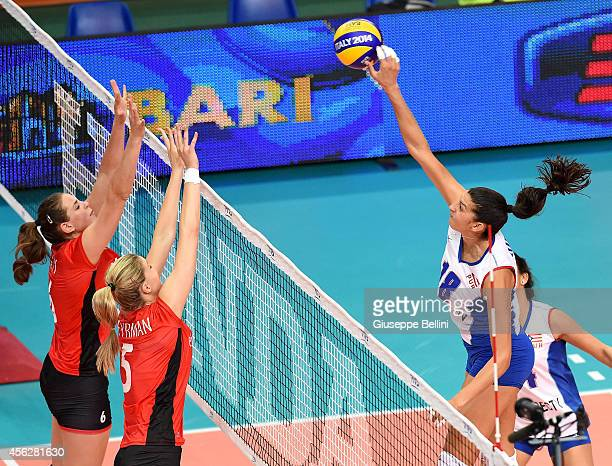 Lynda Morales of Puerto Rico in action during the FIVB Women's World Championship pool D match between Belgium and Puerto Rico on September 28 2014...