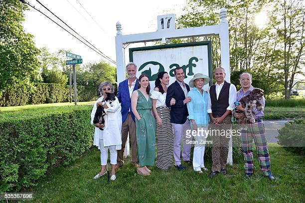 Lynda Sylvester Tim Button Tracey Cavaniola Chris Spitzmiller Nancy Corzine John Stedila and Eldon Wong attend Animal Rescue Fund of the Hamptons 6th...