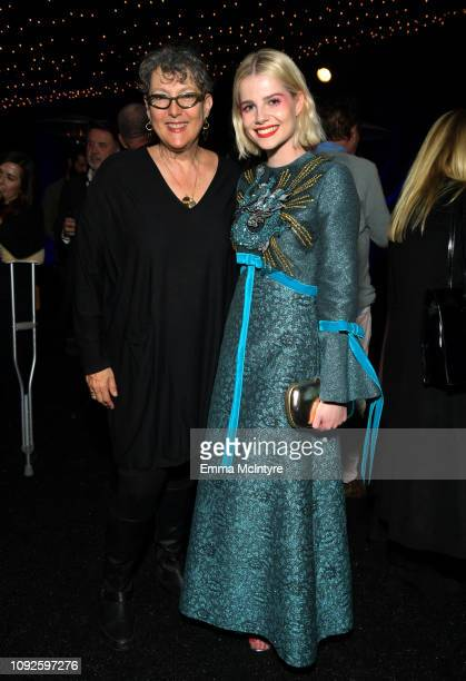 Lynda Weinman and Lucy Boynton attend the Outstanding Performer Award Honoring Rami Malek during 34th Santa Barbara International Film Festival at...