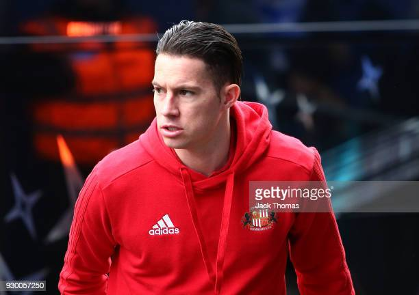 Lynden Gooch of Sunderland arrives ahead of the Sky Bet Championship match between QPR and Sunderland at Loftus Road on March 10, 2018 in London,...